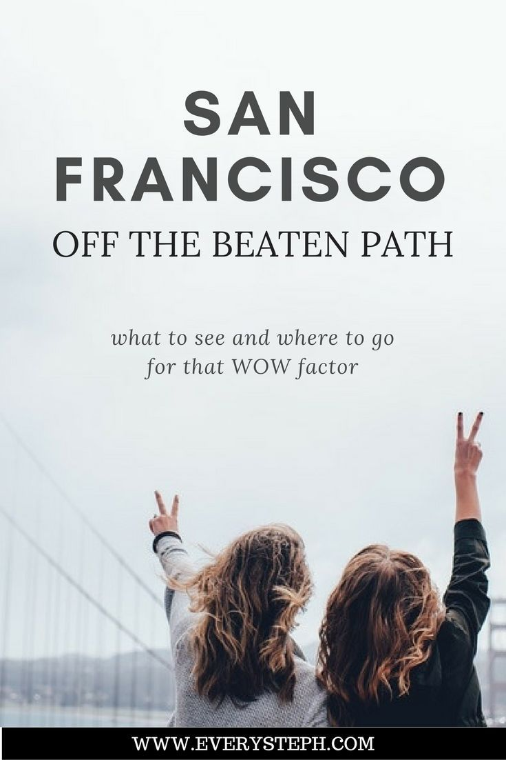 There are so many things to do in San Francisco! But once you've checked the unmistakable, yet touristy, spots, what else is there to do off the beaten path in San Francisco? Here are six attractions to see a different San Francisco. | Unusual San Francisco - Every Steph