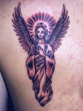 Image result for angel tattoo for women