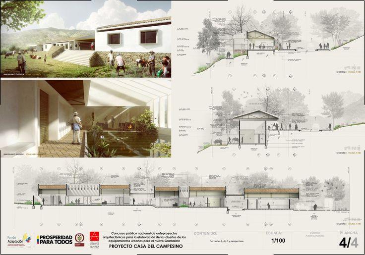 Primer Lugar en Concurso Casa del Campesino de Nuevo Gramalote / Colombia Primer Lugar en Concurso Casa del Campesino de Nuevo Gramalote / Colombia – Plataforma Arquitectura
