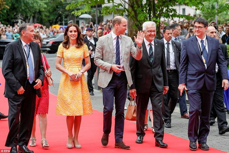 The couple are set to meet Nobel Prize winner Dr. Harald zur Hausen, and visit the stem cell research lab and the German Cancer Research Institute in Heidelberg before taking part in a boat race.