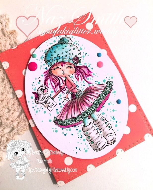 My project with this adorable image from My besties by Sherri Baldy.  Hope you like it.