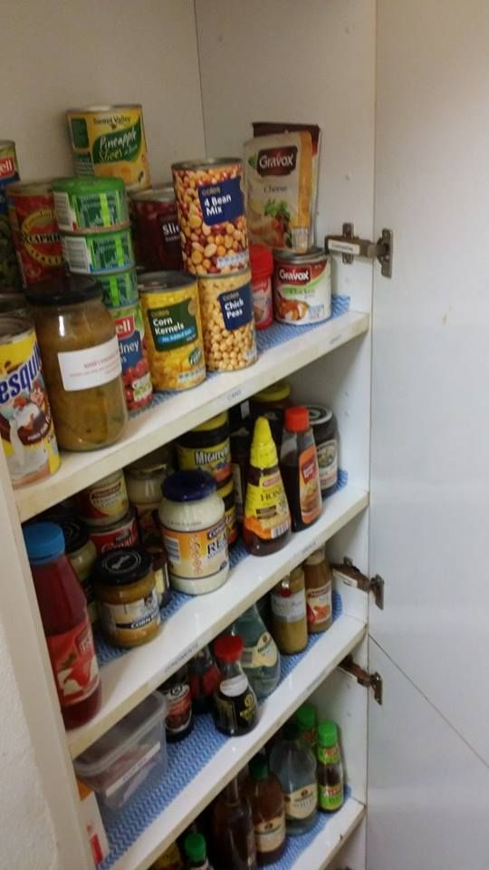 Organised Pantry - client is happy because like is with like and she can now see what she has instead of ordering take-out!