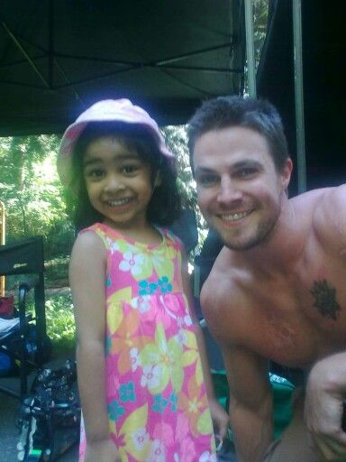 Stephen Amell filming on Lian Yu