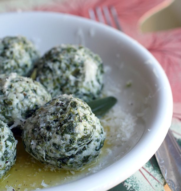 Gnudi and malfatti (i think roughly translates as malformed gnocchi but not entirely sure) - ingredients include fresh spinach & ricotta