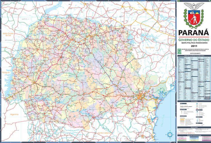 Mapa Político Rodoviário 2011