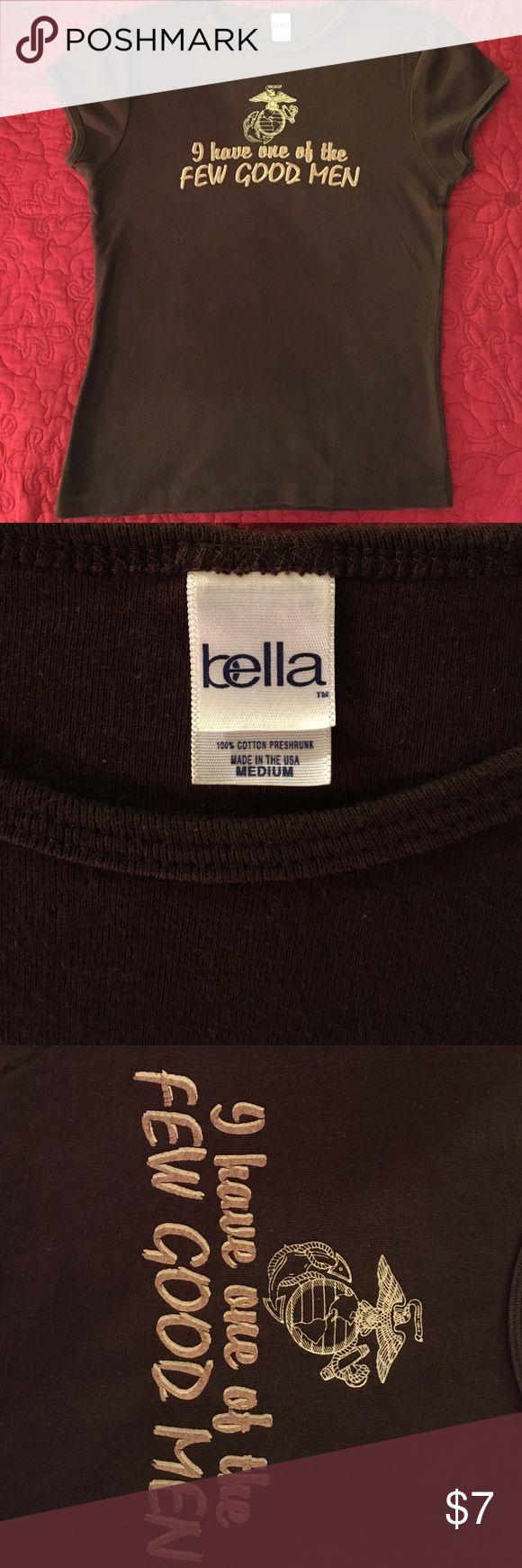 USMC women's t-shirt Size medium (runs a little small) 100% cotton, brown USMC t-shirt.  Semper Fi. Tops Tees - Short Sleeve