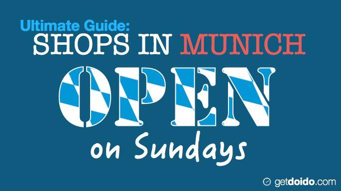 shop open hours in Munich on Sundays