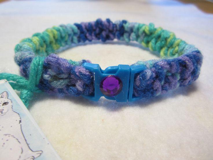 Blue Cat Collar, Knit Breakaway Cat Collar, Cat Collar with Rhinestone, Cat Collar with Clip Front, Cat Supplies, Cat Accessories, Kitties by FoxHuffDesigns on Etsy