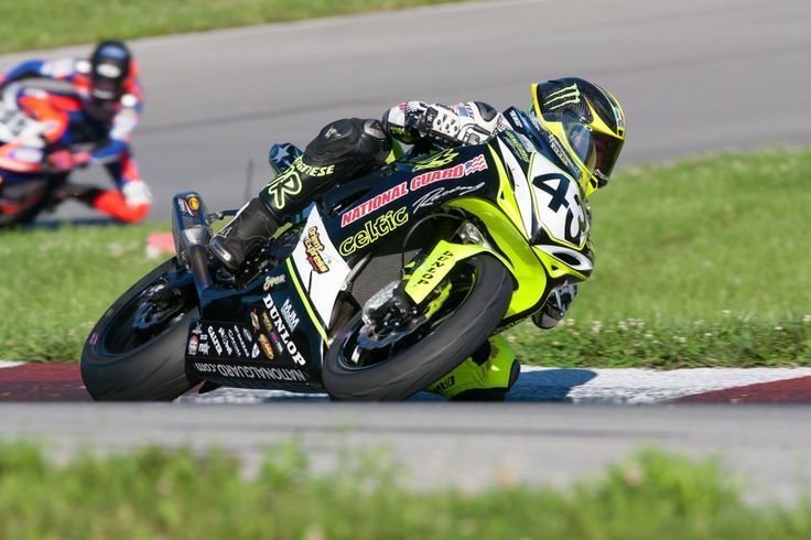 Celtic Racing's James Rispoli finished 7th & 5th in the GoPro Daytona Sportbike class at the Buckeye Superbike Weekend at Mid Ohio, remaining 5th in points in the series standings. Photo by Andrea Wilson Photography: http://www.andreawilsonphotography.com/ http://maverickmotomedia.com/celtic-racing-riders-earned-valuable-points-at-mid-ohio-with-top-ten-finishes/