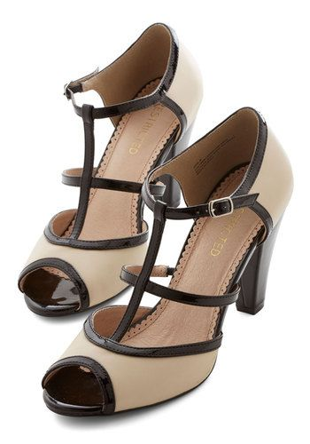Hep Hopper Heel. Your fancy footwork rivals the hippest 40s-era cats when you cut a rug in these strappy Restricted heels! #tan #modcloth