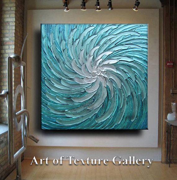 Abstracto pintura 42 x 42 enorme Original textura por artoftexture