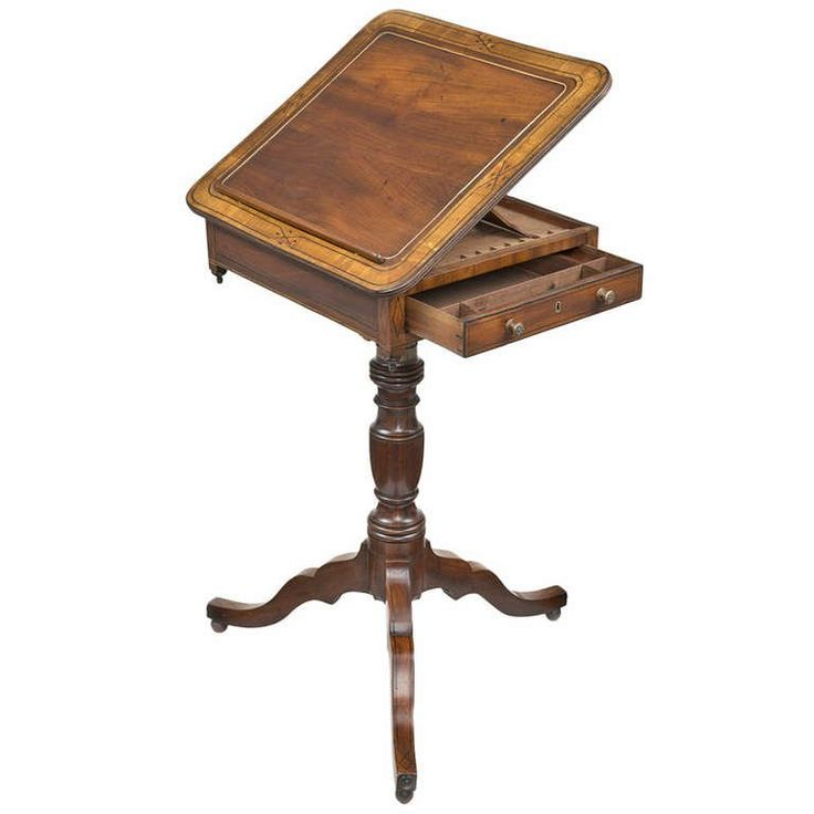 Regency Combination Reading and Writing Table | From a unique collection of antique and modern desks and writing tables at https://www.1stdibs.com/furniture/tables/desks-writing-tables/