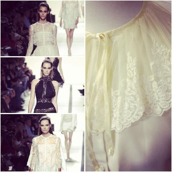 Victoriana lace collared blouse: inspiration from Fashion Week wonder Ellie Saab.