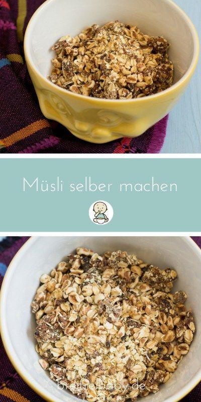 Müsli für Babys und Kleinkinder ohne Zucker selber machen - Müslirezept - Aprikosenmüsli - Granola - Frühstück