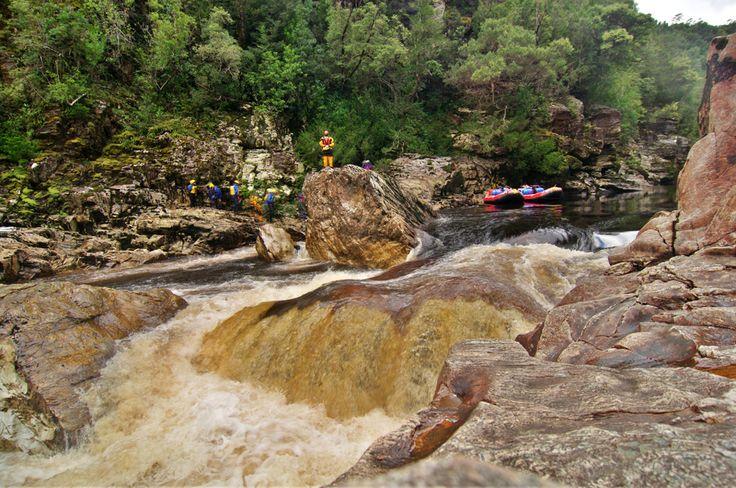 """Nasty Notch"" on the Franklin River in Tasmania. #rafting #tasmania #seeaustralia #lp"