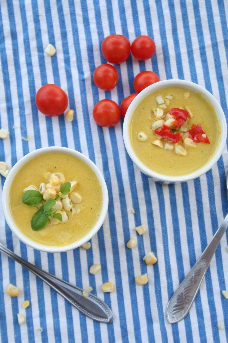 sweetcorn soup zupa z kukurydzy