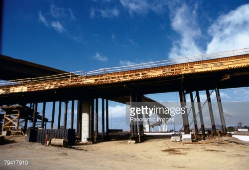 Stock Photo :  Overpass over an under construction bridge, California State Route 91, Interstate 215, Riverside County, California, USA