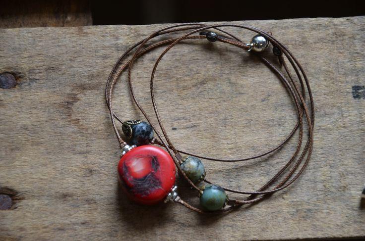 Bracelet corail et turquoise