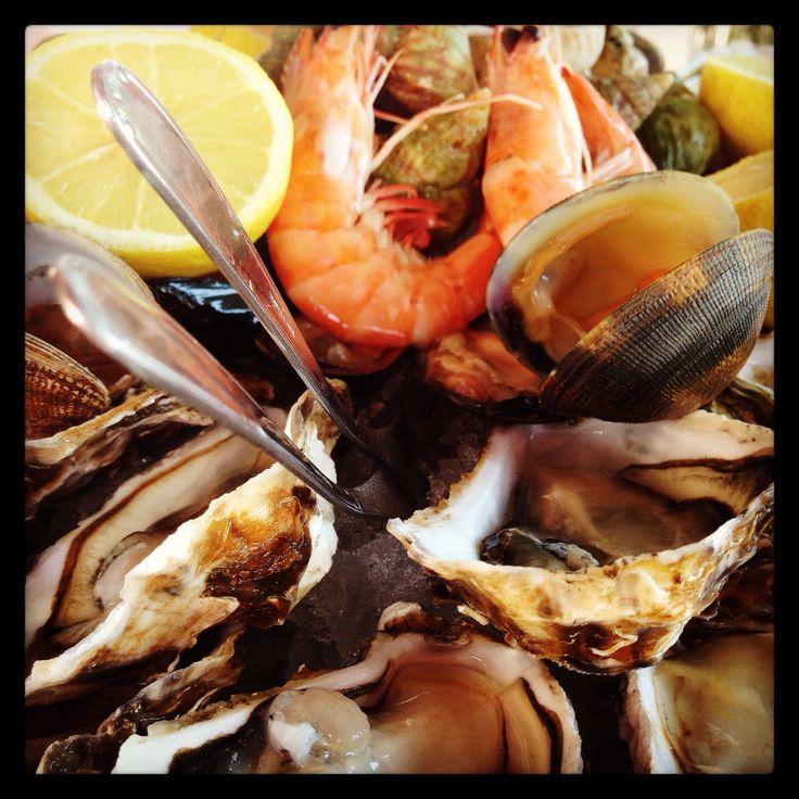 Plateau de fruits de mer à l'Arseillère