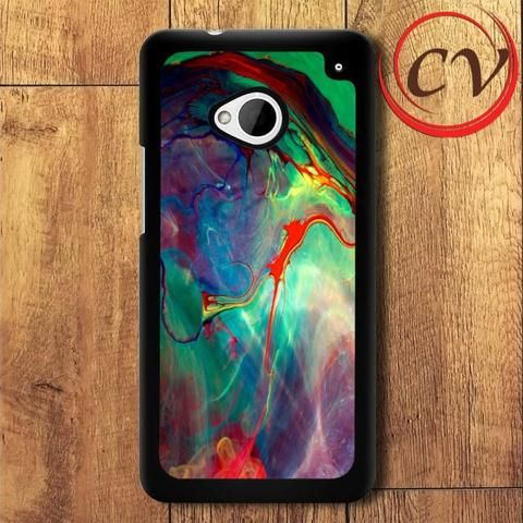 Abstract HTC One M7 Black Case
