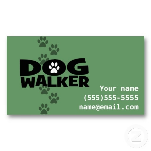 Pinterest Dog Walking Business Cards