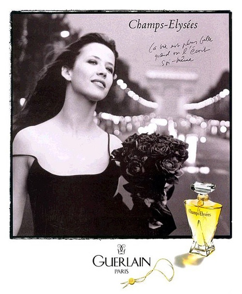 Sophie Marceau for Champs Elysees Perfume by Guerlain