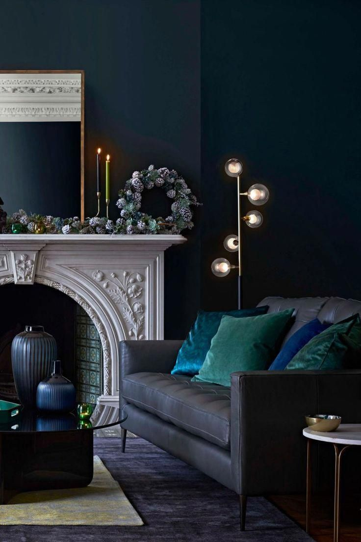This Living Room Takes Influence From An Enchanting Winter Wonderland It S All Deep Glamorou Living Room Green Elegant Living Room Decor Glamorous Living Room #peacock #colors #living #room