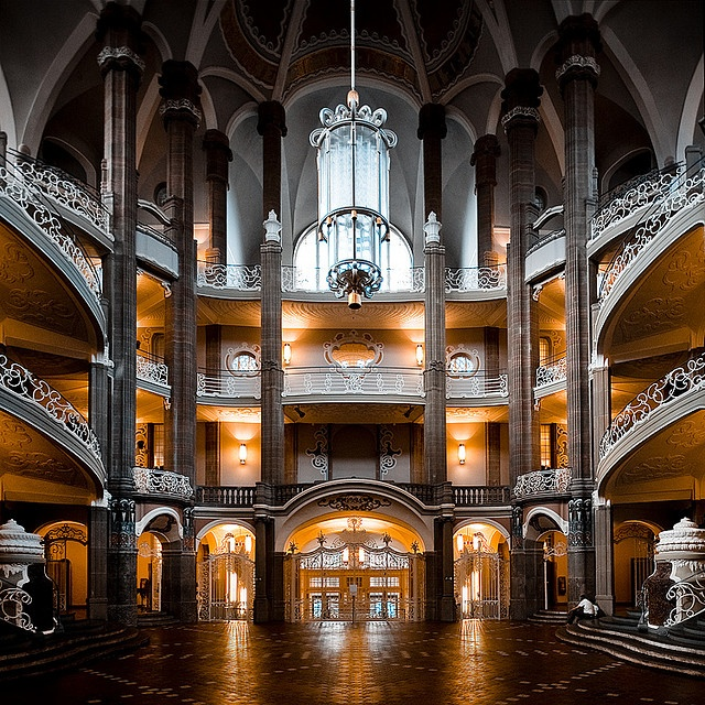 Amtsgericht Moabit, Berlin - I visited the main Criminal Court in Berlin (Moabit) with my Goethe Institut class, and was blown away by the stunning architecture inside the huge old building.