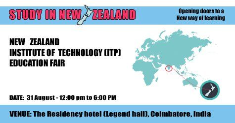New Zealand Institute of Technology Education Fair at Coimbatore.  Visit our website.