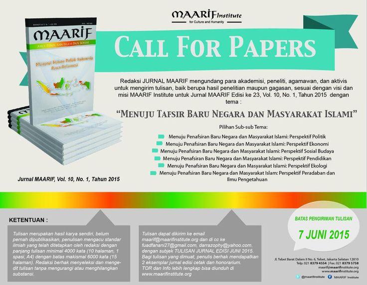 #JurnalMAARIF menerima kiriman naskah artikel atau hasil penelitian. Kami tunggu! cc: @ulil @sahaL_AS @nongandah