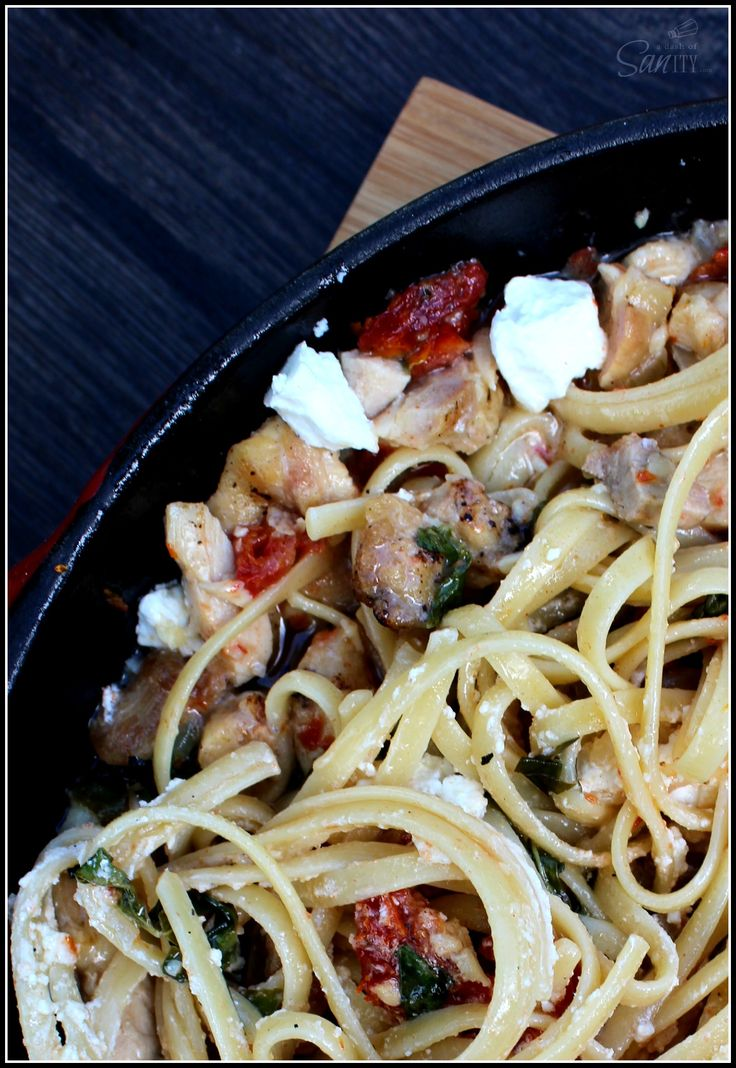 Chicken Bryan Pasta Skillet - A Dash of Sanity