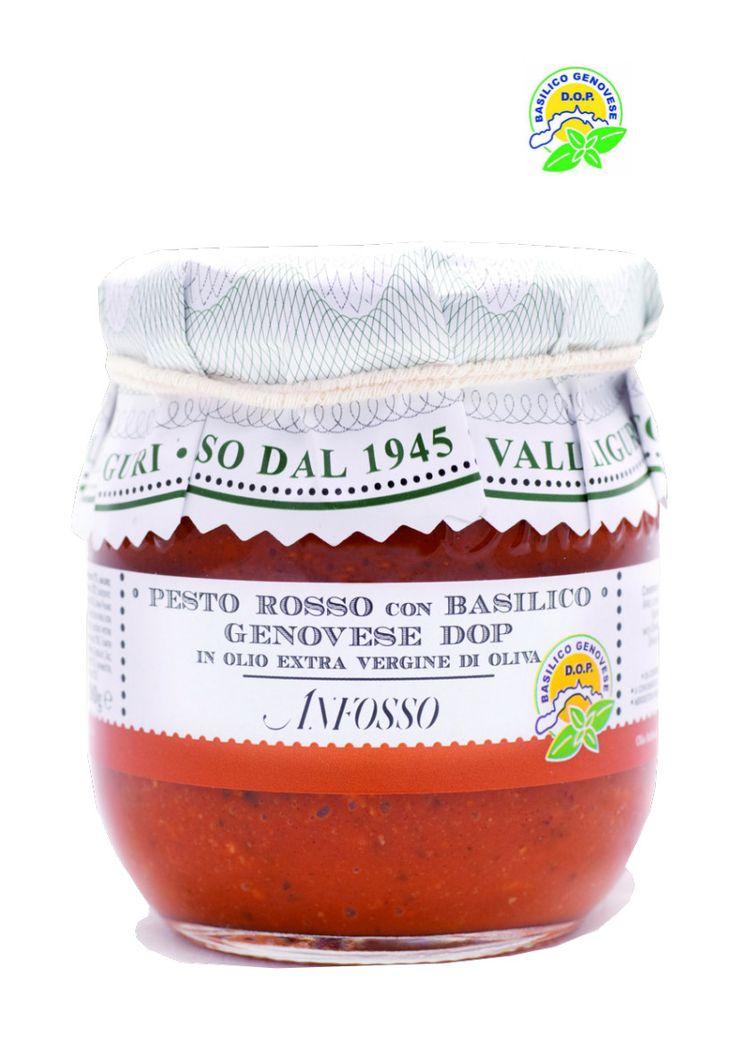 Pesto Rosso con Basilico Genovese D.O.P. ANFOSSO - Vino