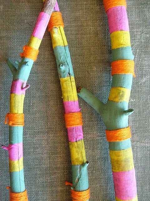 fun craft project with walking sticks