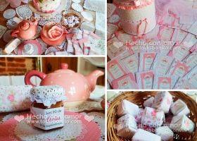 El Kit Shabby Chic Aqua+Rosa para un bautismo o baby shower queda realmente precioso. Si no noscreen, miren las imágenes que nos envió Patricia, la mamá de Federica. Todo en rosa, aqua y blanco, transmiten la delicadezay serenidad que una...