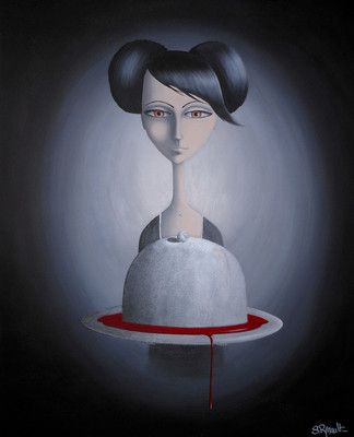 Sweet Salomé - 7 voiles pour 1 tête (2012) Acrylique sur toile, S.Renault