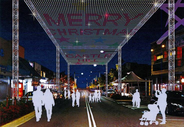 Delightful spectacle: A 40 metre x 10 metre LED light canopy would be installed on Main Street to enhance the Christmas experience — and attract visitors.
