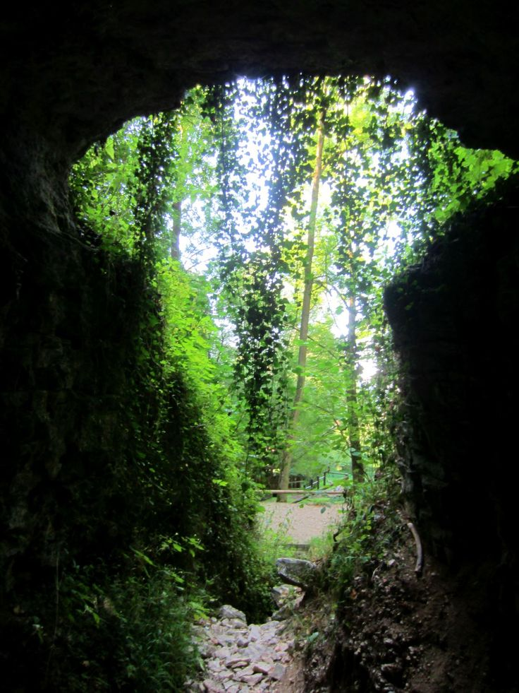 Trail run in Streitberg Fränkische Schweiz. Bavaria, Germany