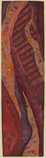 "Image of quilt titled ""Terwilliger Curves"" by Barbara O'Steen"