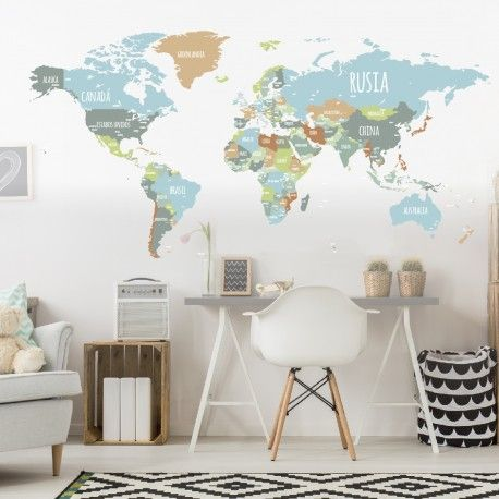 16 best Home images on Pinterest World maps, Worldmap and Bedroom - fresh world map outline decal