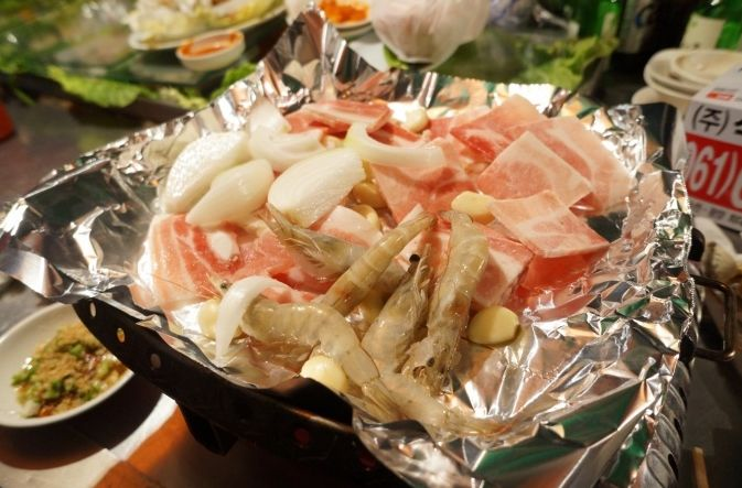 pork with seafood fried