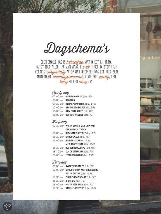 Dagschema s Powerfood, Rens Kroes