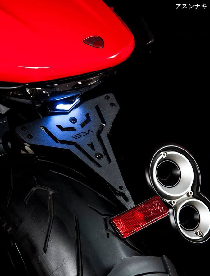 Fender delete Ducati Monster 821 with LED light, turn signals can be remounted and comes with reflector, info: http://anunaki-parts.com/en/ducati-monster-821/431-fender-delete-ecn-v2-monster-821-ducati-monster-821.html