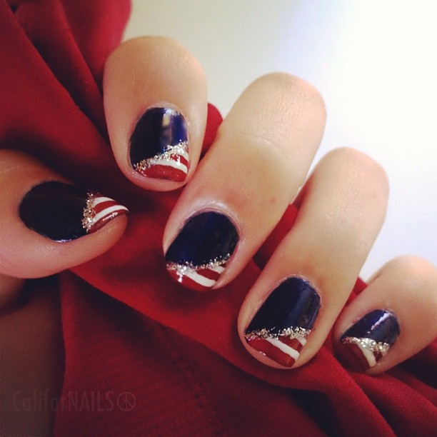 517 best 4th of july nail art images on pinterest july 4th nail of july nails entry 3 to prinsesfo Gallery