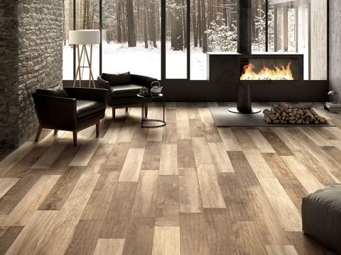 Traditional Wood Effect Floor Tiles - The Country Collection