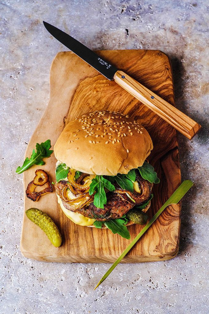 This super-quick vegan bean burger is packed with flavour and soooo easy to make - within 15 minutes! From 'Vegan in 15' cookbook by Kate Ford.