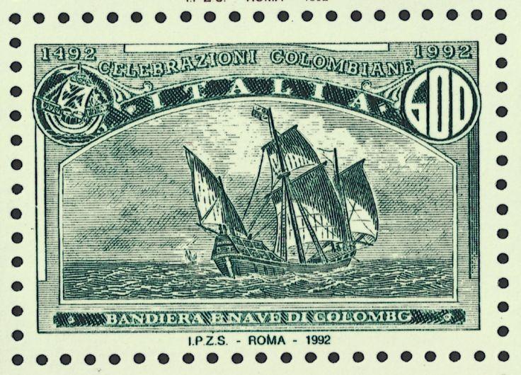 Italy #1887b variety (22 May 1992) Santa María.