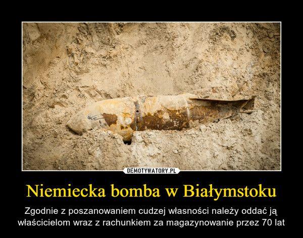 Niemiecka bomba w Białymstoku