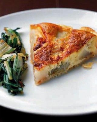 Quiche met witloof, peren en brie