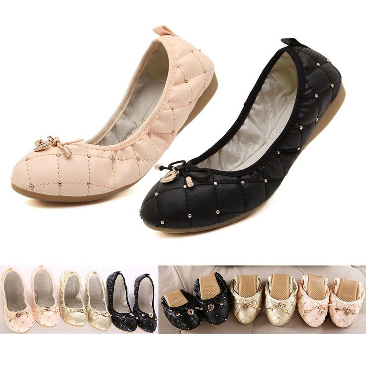 【楽天市場】ハート&りポン付 バレエシューズ♪ピンク 黒【ぺたんこ パンプス】 普段用 ダンス (パンプス 激安) (コキュ BUTTERFLY TWISTS バタフライツイスト ではない) 折りたたみ 靴 折りたたみ シューズ 携帯シューズ スリッパ ポケッタブルシューズ P19May15:shoes ivy