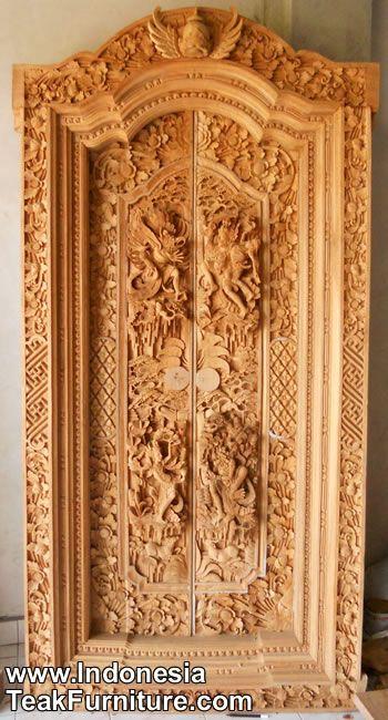Traditional Balinese Doors Carving Doors Wooden Doors